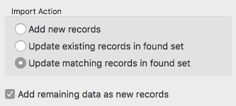 Import matching records