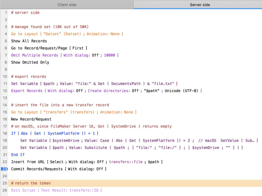 server side script