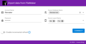 FileMaker 2 Tableau