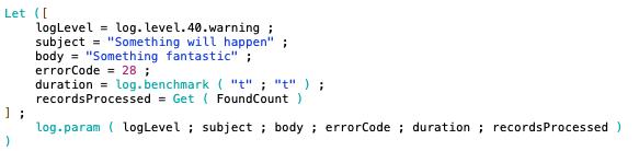 Log Parameter